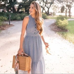 Gal Meets Glam Collection Ardith Gingham Dress
